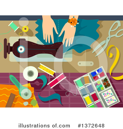 Sewing Machine Clipart #1372648 by BNP Design Studio