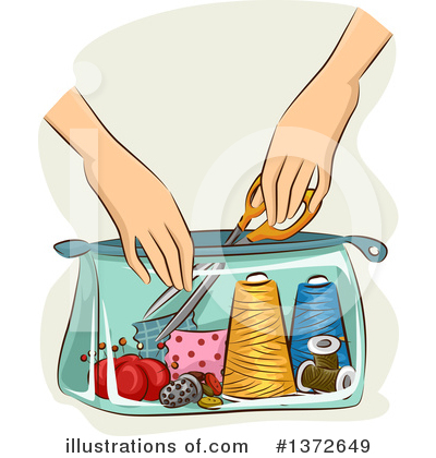 Royalty-Free (RF) Sewing Clipart Illustration by BNP Design Studio - Stock Sample #1372649