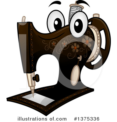 Sewing Machine Clipart #1375336 by BNP Design Studio