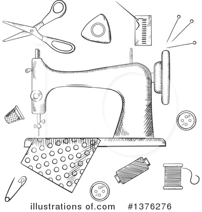 Sewing Clipart #1376276 by Vector Tradition SM