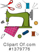 Sewing Clipart #1379776 by Vector Tradition SM
