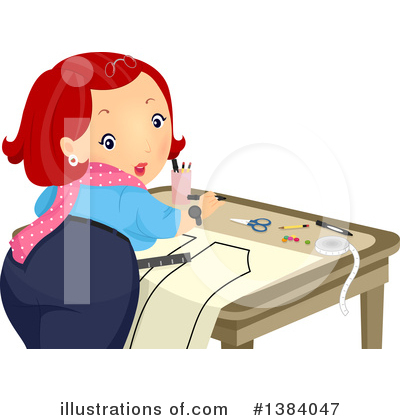 Royalty-Free (RF) Sewing Clipart Illustration by BNP Design Studio - Stock Sample #1384047
