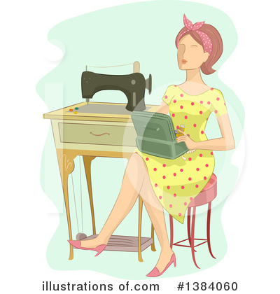 Housewife Clipart #1384060 by BNP Design Studio
