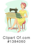 Royalty-Free (RF) Sewing Clipart Illustration #1384060