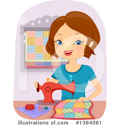 Sewing Clipart #1384061 by BNP Design Studio