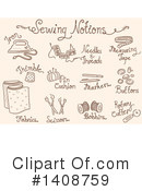 Sewing Clipart #1408759 by BNP Design Studio