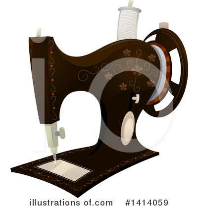 Sewing Machine Clipart #1414059 by BNP Design Studio