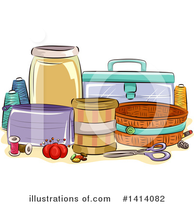 Royalty-Free (RF) Sewing Clipart Illustration by BNP Design Studio - Stock Sample #1414082