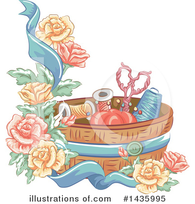 Royalty-Free (RF) Sewing Clipart Illustration by BNP Design Studio - Stock Sample #1435995