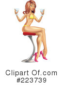 Royalty-Free (RF) sexy woman Clipart Illustration #223739