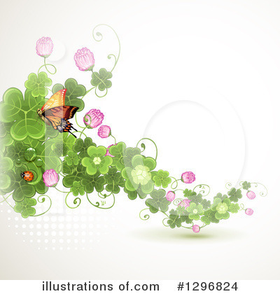 Royalty-Free (RF) Shamrocks Clipart Illustration by merlinul - Stock Sample #1296824