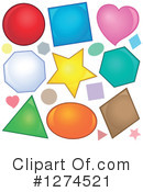 Royalty-Free (RF) Shapes Clipart Illustration #1274521