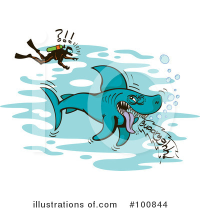 Royalty-Free (RF) Shark Clipart Illustration by Zooco - Stock Sample #100844