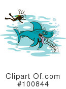 Royalty-Free (RF) Shark Clipart Illustration #100844