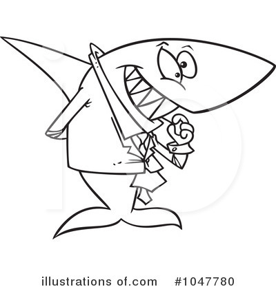 Shark Clipart #1047780 by toonaday