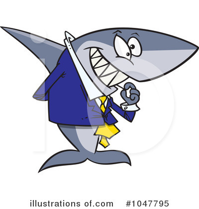 Shark Clipart #1047795 by toonaday