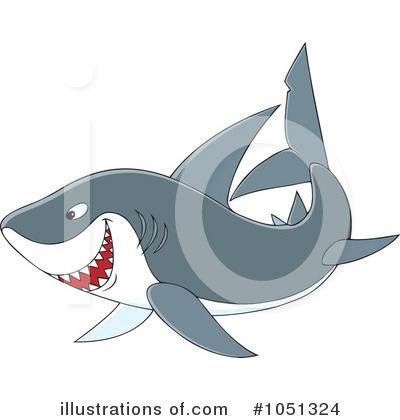 Shark Clipart #1051324 by Alex Bannykh