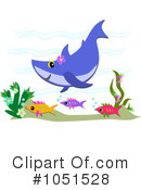 Royalty-Free (RF) shark Clipart Illustration #1051528