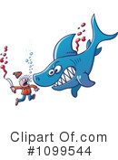 Royalty-Free (RF) Shark Clipart Illustration #1099544