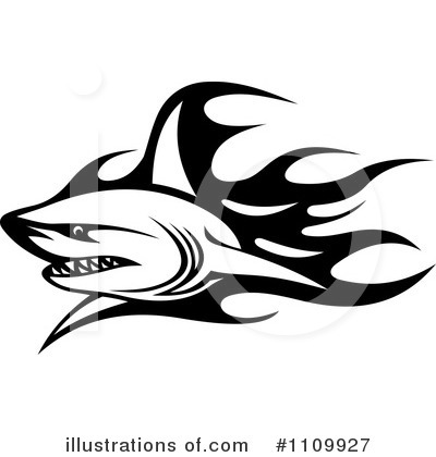 Shark Clipart #1109927 by Vector Tradition SM