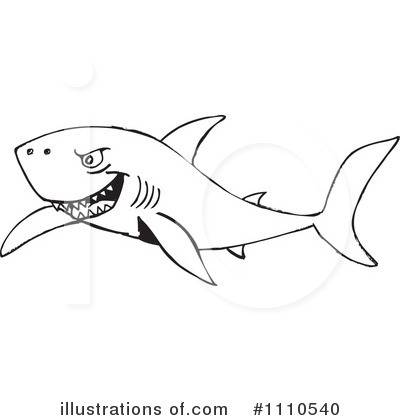 Shark Clipart #1110540 by Dennis Holmes Designs
