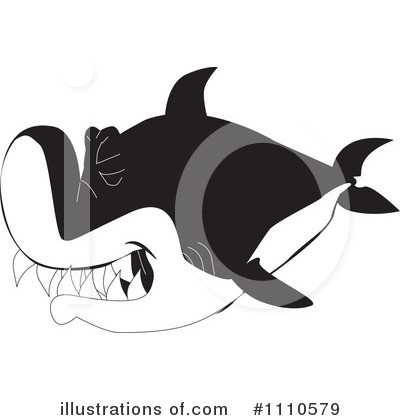 Shark Clipart #1110579 by Dennis Holmes Designs
