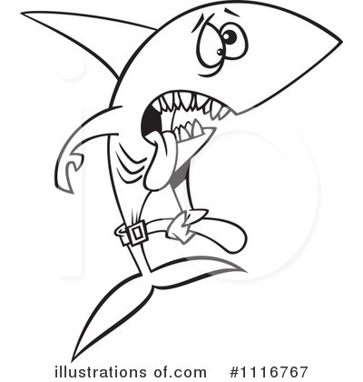 Shark Clipart #1116767 by toonaday