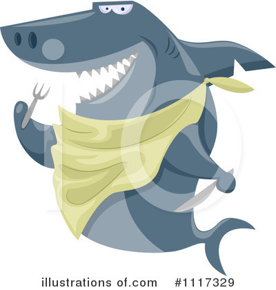 Royalty-Free (RF) Shark Clipart Illustration by BNP Design Studio - Stock Sample #1117329