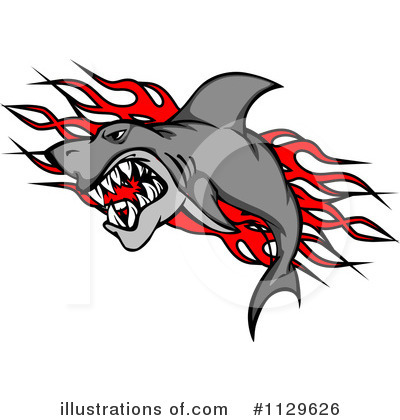 Shark Clipart #1129626 by Vector Tradition SM