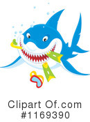 Royalty-Free (RF) Shark Clipart Illustration #1169390