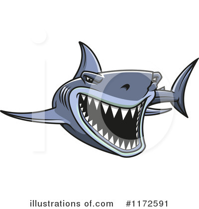 Shark Clipart #1172591 by Vector Tradition SM