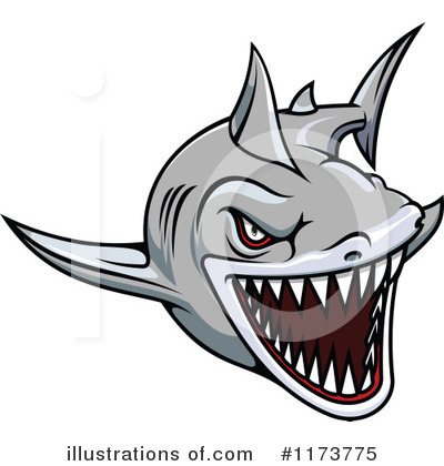 Shark Clipart #1173775 by Vector Tradition SM