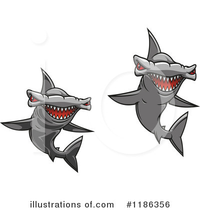 Hammerhead Shark Clipart #1186356 by Vector Tradition SM