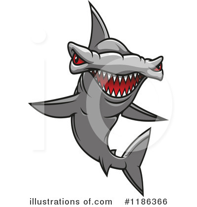 Hammerhead Shark Clipart #1186366 by Vector Tradition SM