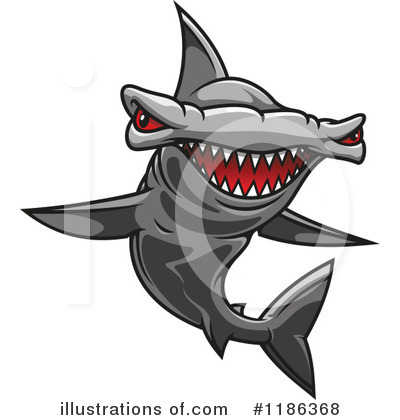 Hammerhead Shark Clipart #1186368 by Vector Tradition SM