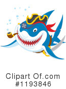 Royalty-Free (RF) Shark Clipart Illustration #1193846
