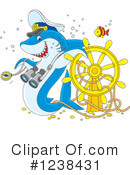 Royalty-Free (RF) Shark Clipart Illustration #1238431