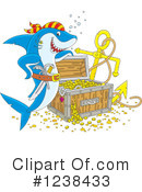 Royalty-Free (RF) Shark Clipart Illustration #1238433