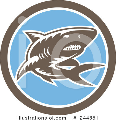 Royalty-Free (RF) Shark Clipart Illustration by patrimonio - Stock Sample #1244851
