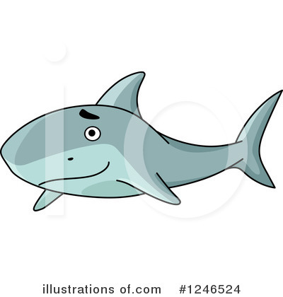 Shark Clipart #1246524 by Vector Tradition SM