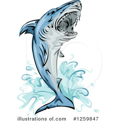 Shark Clipart #1259847 by BNP Design Studio