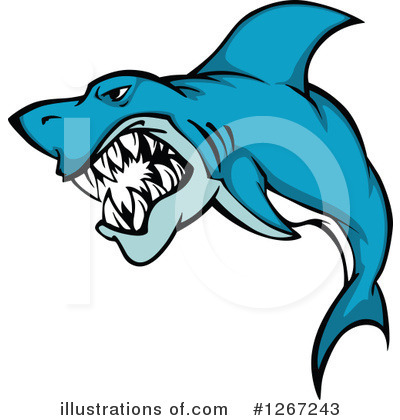 Shark Clipart #1267243 by Vector Tradition SM