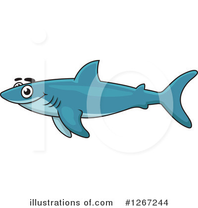 Shark Clipart #1267244 by Vector Tradition SM