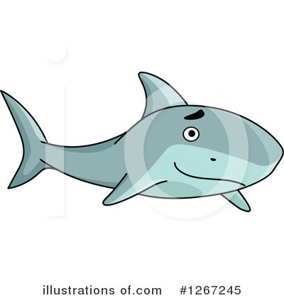 Shark Clipart #1267245 by Vector Tradition SM