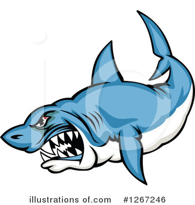 Shark Clipart #1267246 by Vector Tradition SM