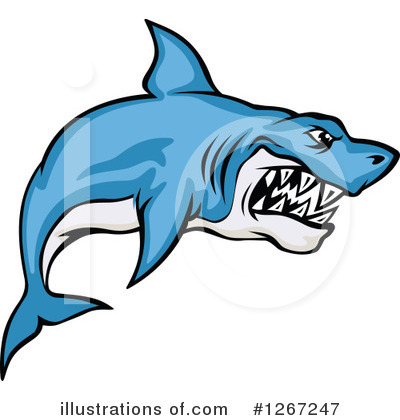 Shark Clipart #1267247 by Vector Tradition SM