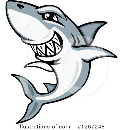 Shark Clipart #1267248 by Vector Tradition SM