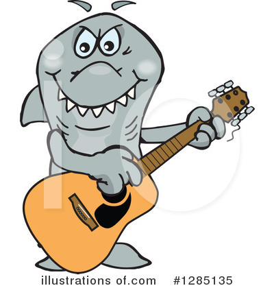 Shark Clipart #1285135 by Dennis Holmes Designs