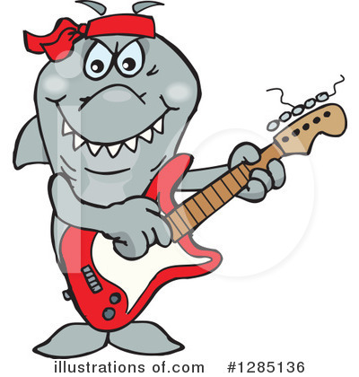 Shark Clipart #1285136 by Dennis Holmes Designs