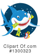 Royalty-Free (RF) Shark Clipart Illustration #1300323